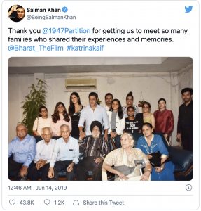Salman Khan with The 1947 Partition Archive